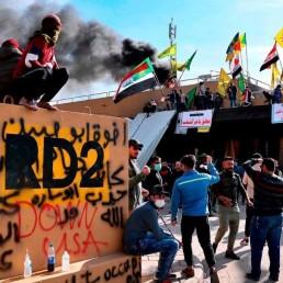 Iraq US protest Iran attacks