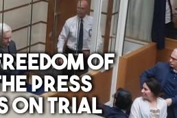 Julian Assange show trial still