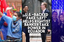 Ecuador fake left banker