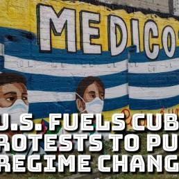 Cuba protests US regime change